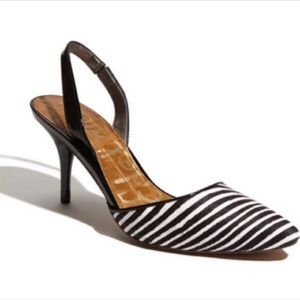 Sam Edelman Zebra Sling Backs